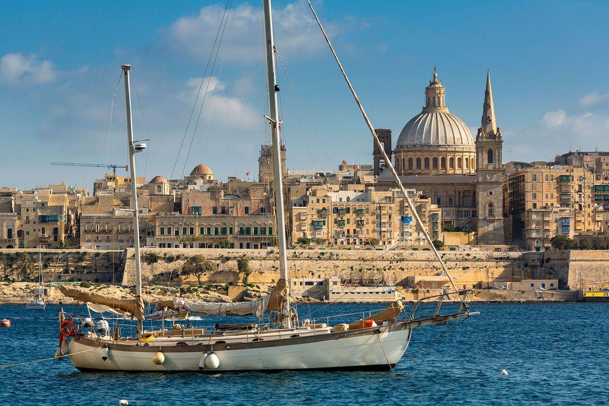 Haften an der Küste von Malta