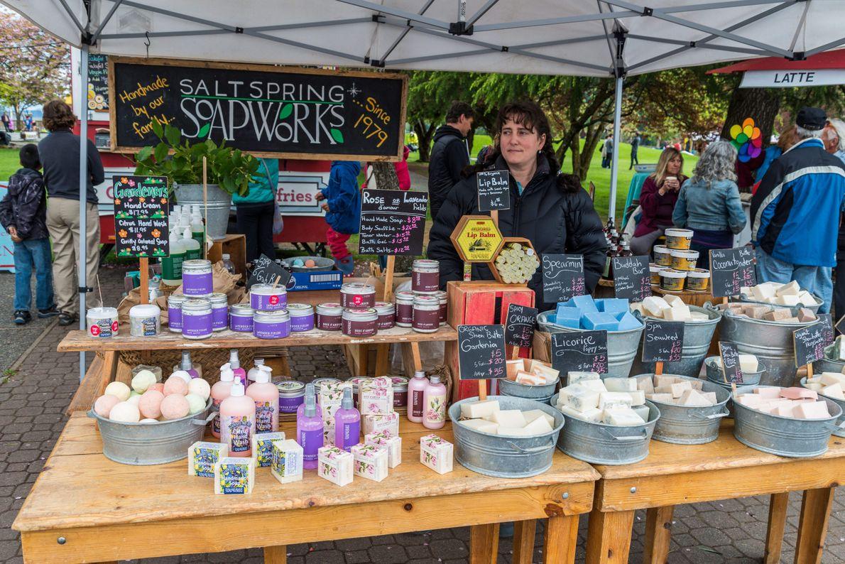 Der Saturday Farmers Market auf Salt Spring Island.
