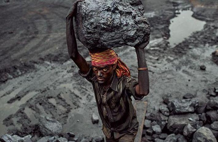 Schufterei in den Minen