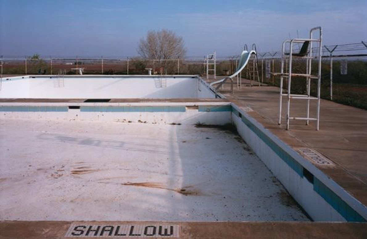 Schwimmbad in Spur, Texas