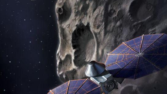 Innerhalb von zwölf Jahren soll die Lucy-Mission der NASA sieben Asteroiden auf der Umlaufbahn des Jupiters ...