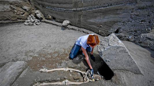Kopfloser Mann vom Pompeji doch nicht von Stein erschlagen