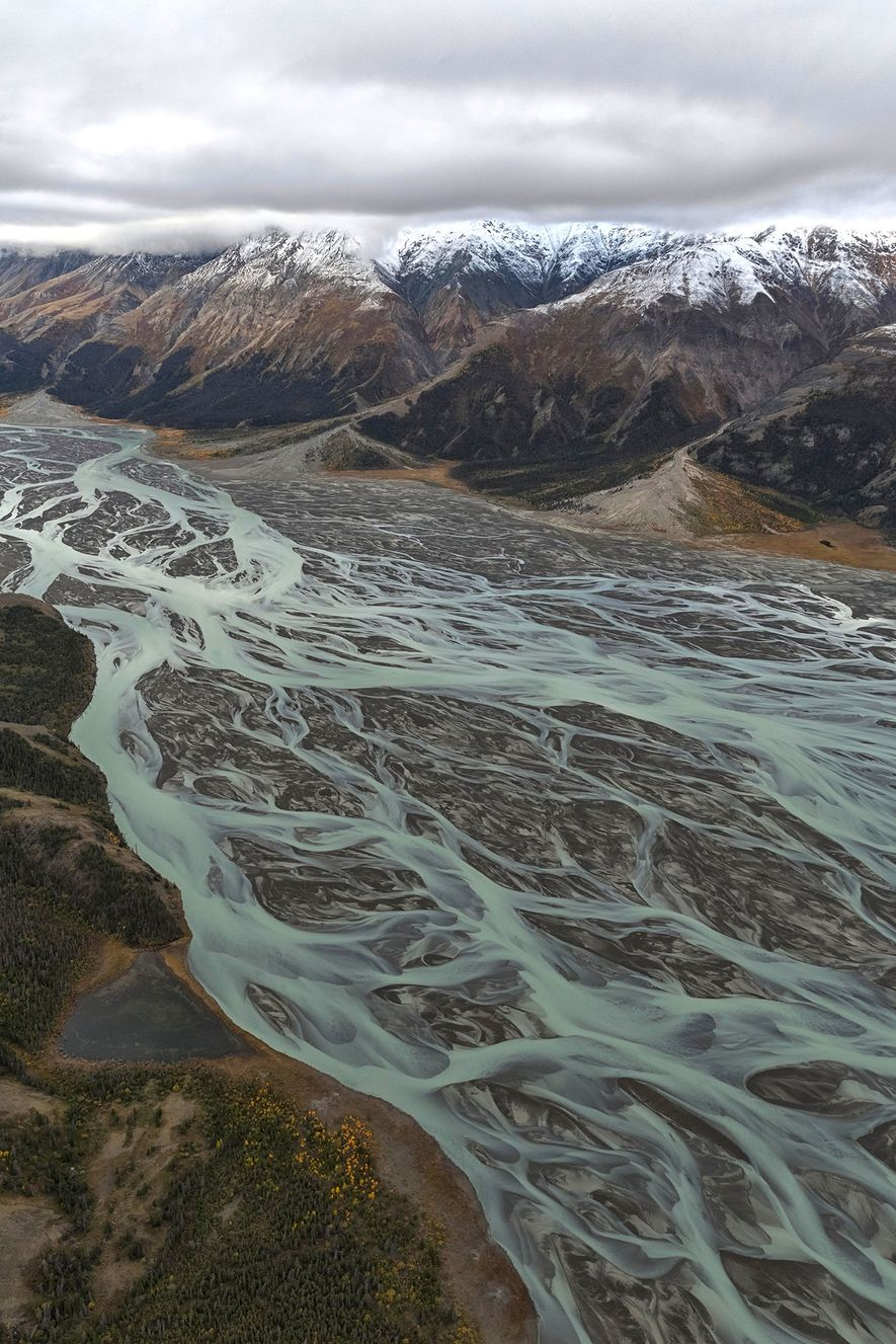 Der Slims River entspringt im Kaskawulsh-Gletscher im Kluane-Nationalpark.