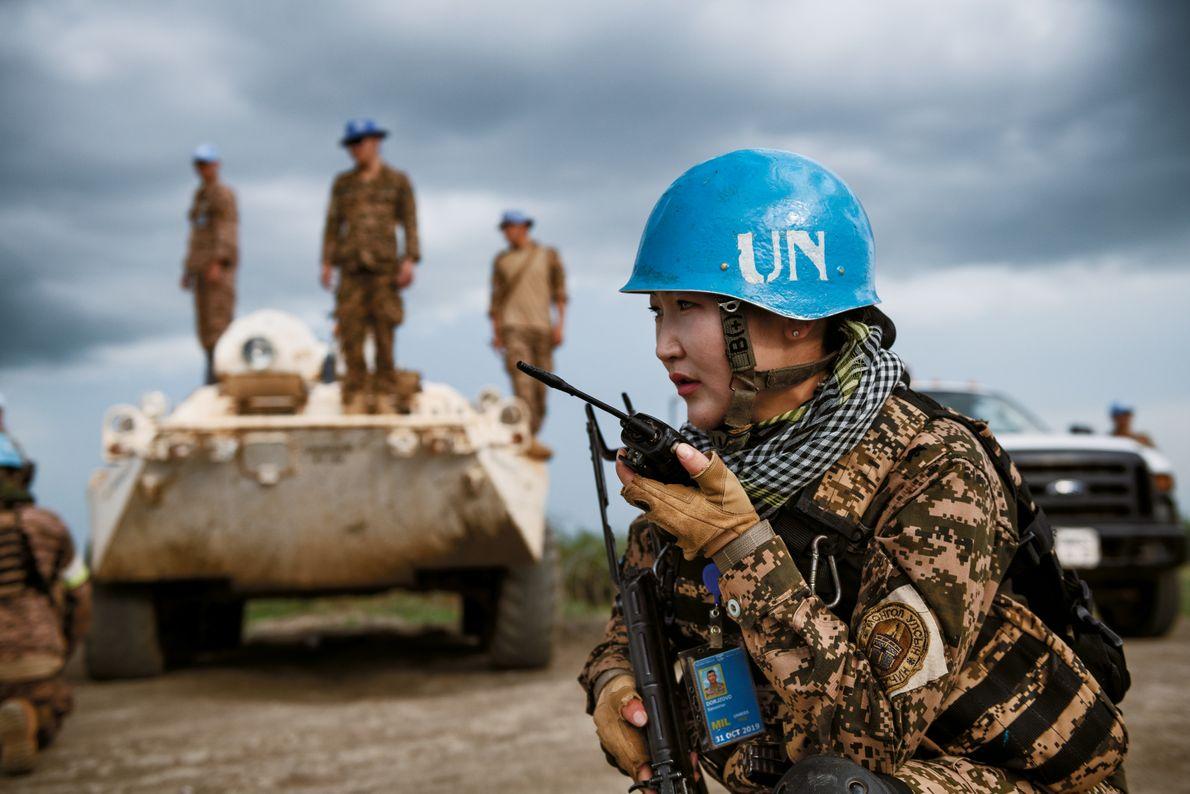 Soldatin im Südsudan