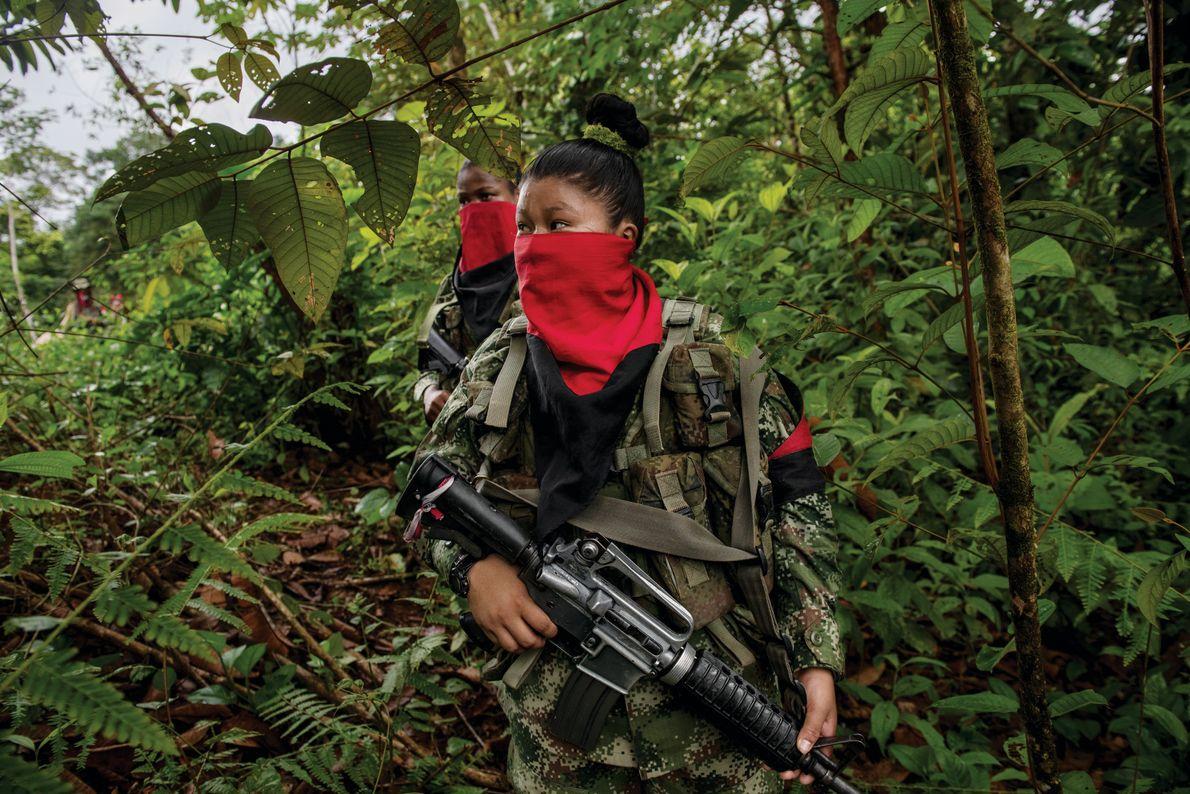 Soldatin in Kolumbien