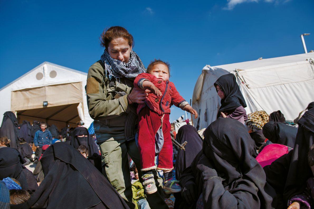 Soldatin in Syrien