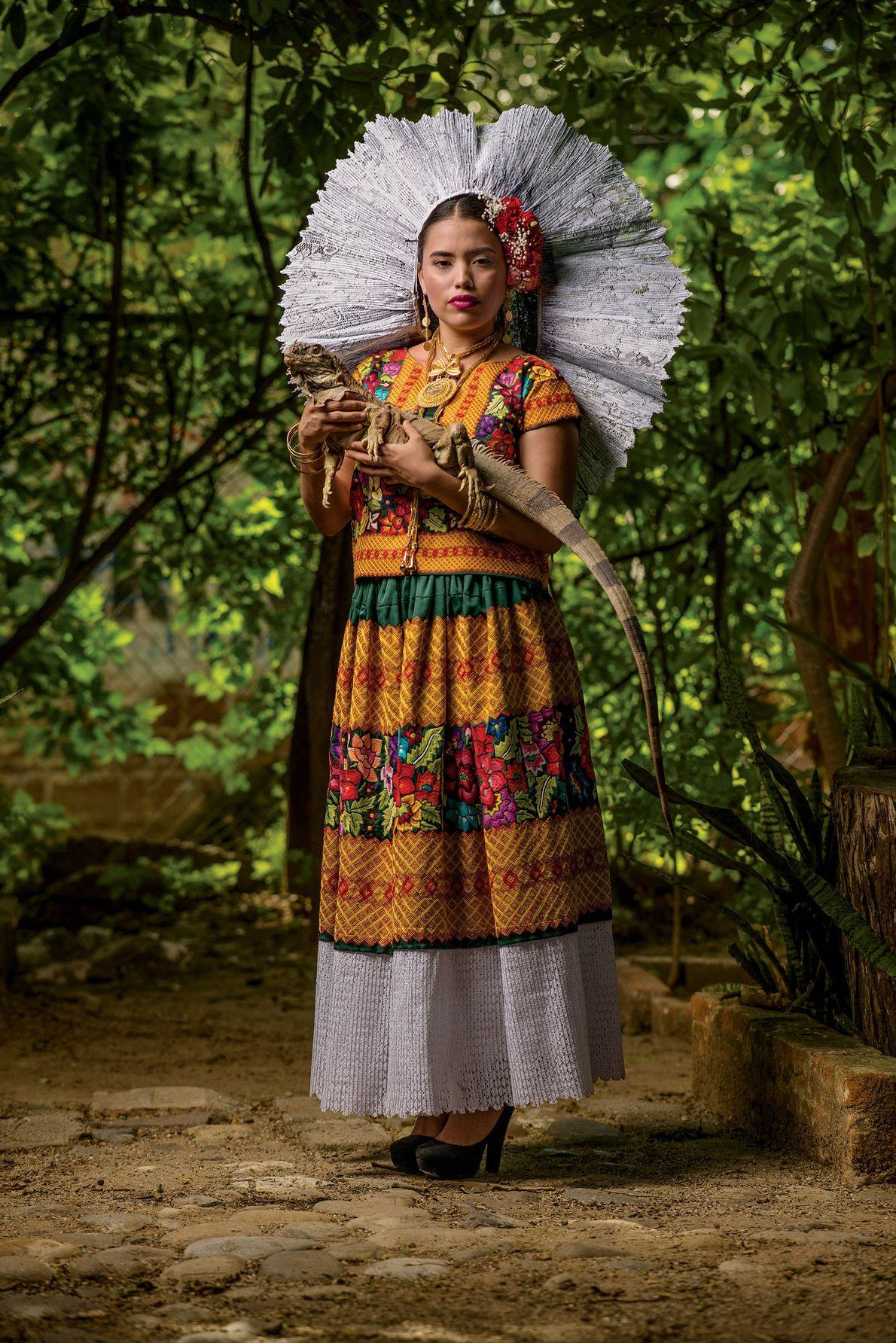 Der Leguan ist seit Tausenden von Jahren ein Symboltier für die Zapoteken, besonders am Isthmus von ...