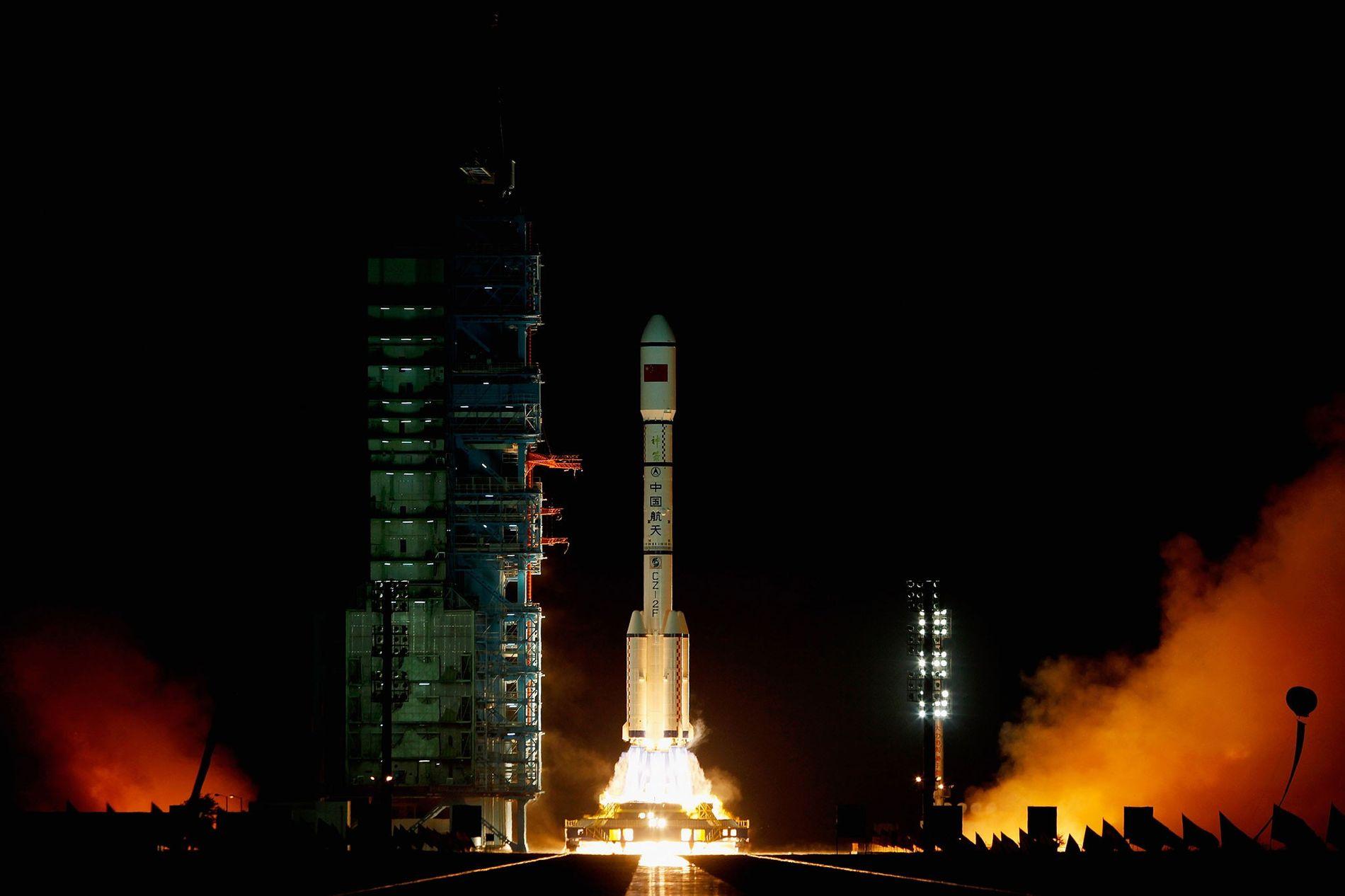 Eine Rakete des Typ Long March 2F startete am 29. September 2011 mit dem ersten Modul der Raumstation Tiangong-1 ins Weltall.