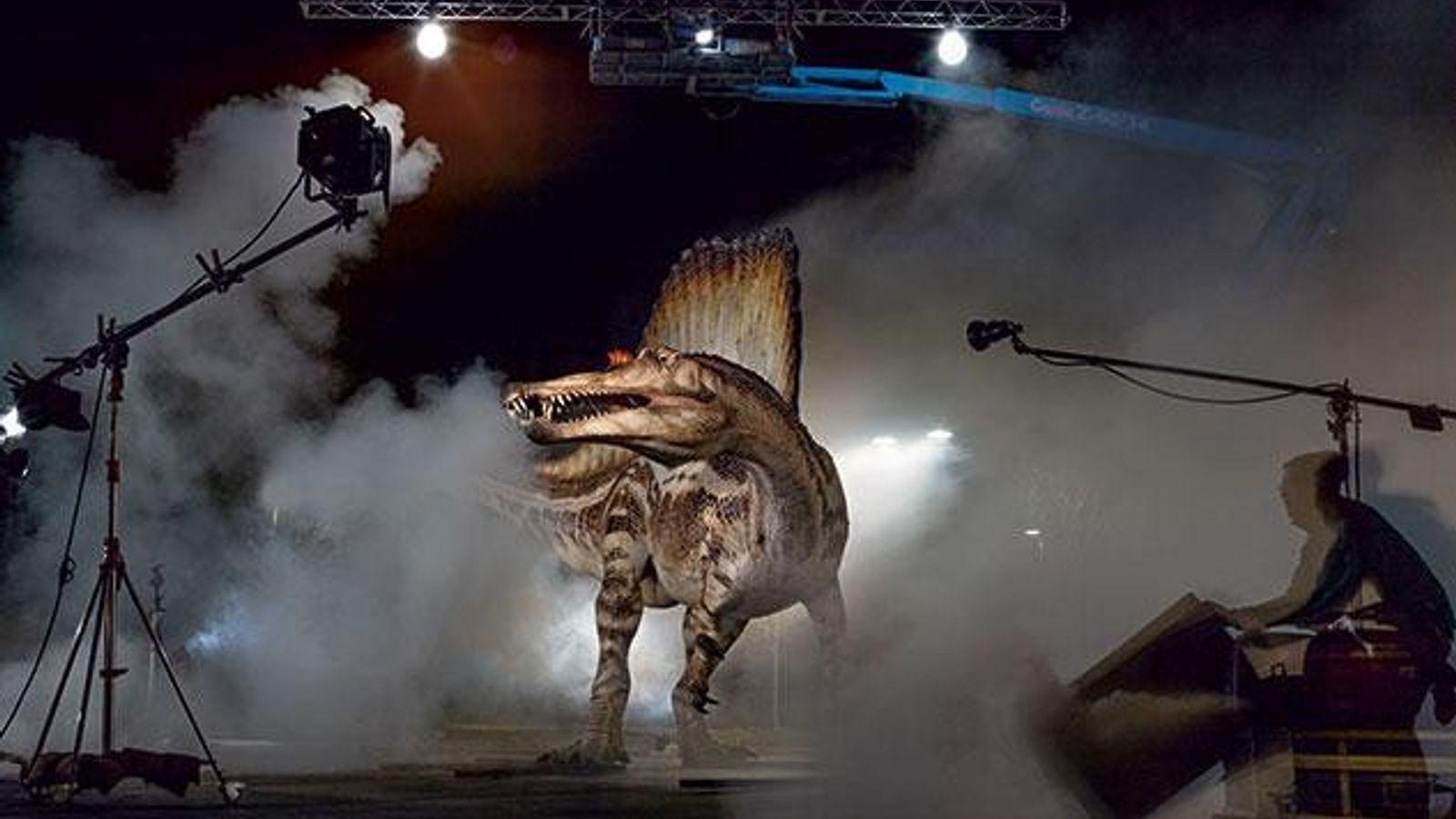 Spinosaurus mit Trockeneis