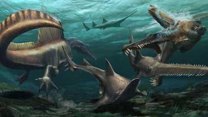 Exklusiv   Spinosaurus schreibt Geschichte: Der erste schwimmende Dinosaurier der Welt