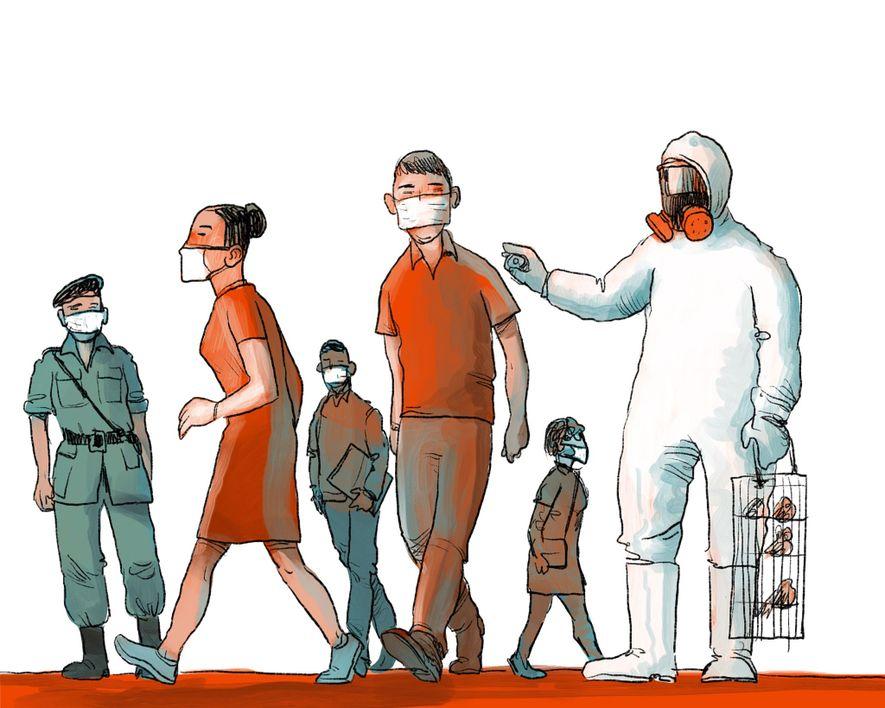 FRÜHLING 2003: Eine tödliche SARS-Epidemie rollt durch China und Hongkong. Die Atemwegserkrankung infiziert 8.096 Menschen und ...