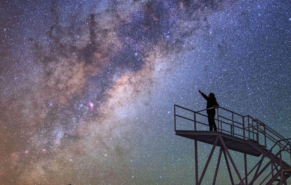 In Chile bietet das Paranal-Observatorium auf dem Berg Cerro Paranal einen tollen Aussichtspunkt für Sternenbeobachtungen.