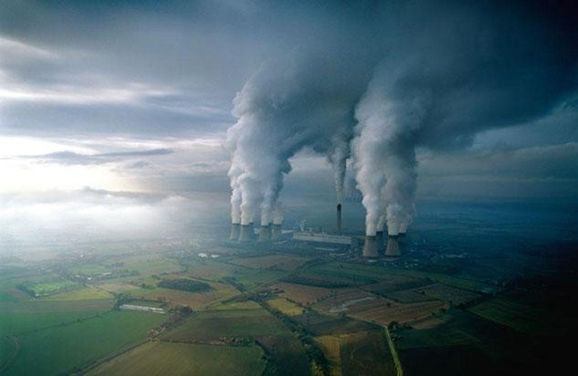 Starke Emissionen aus Kohlekraftwerken