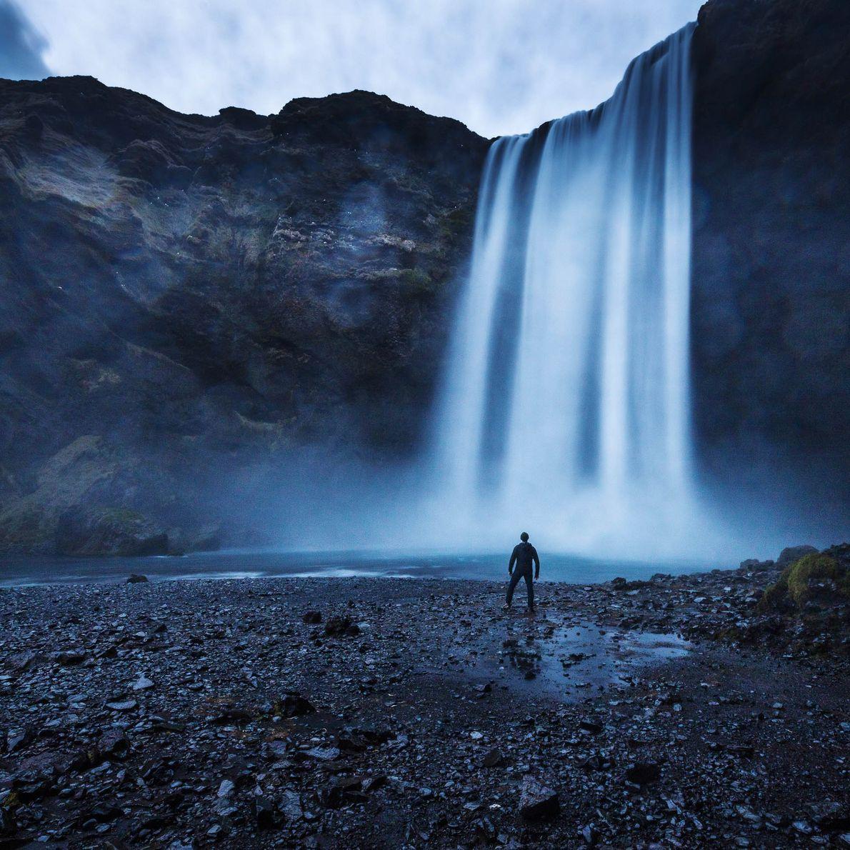 Der Skógafoss in Island