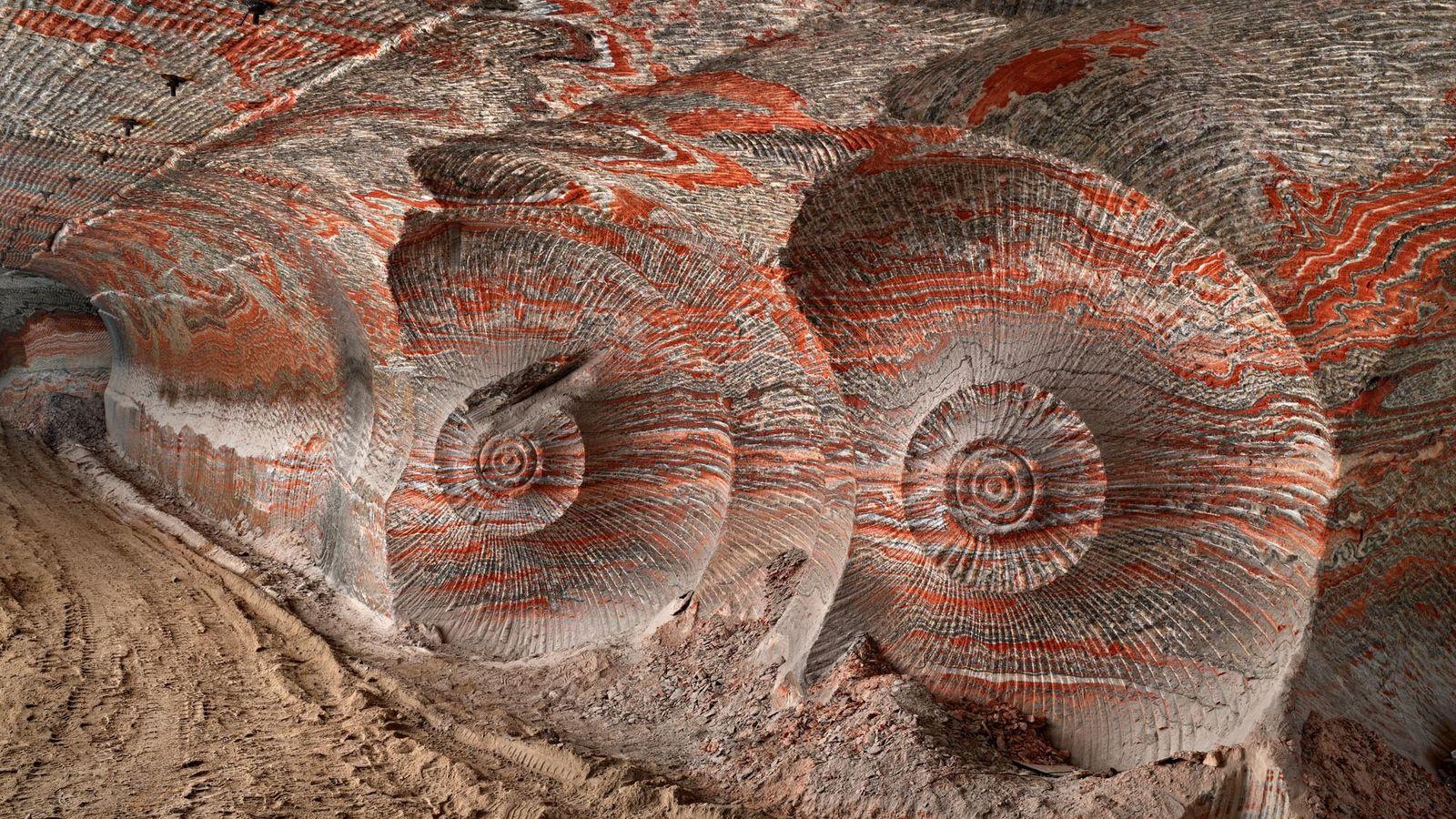 Wie aus einer anderen Welt: Die schneckenförmigen Muster auf dem Foto stammen von einer Maschine. Die ...