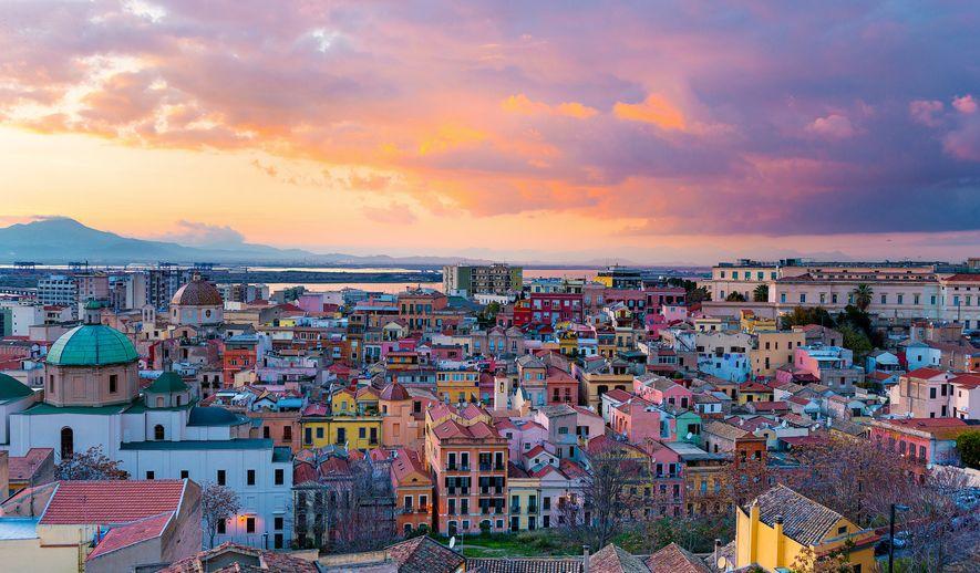 Sonnenuntergang in Cagliari