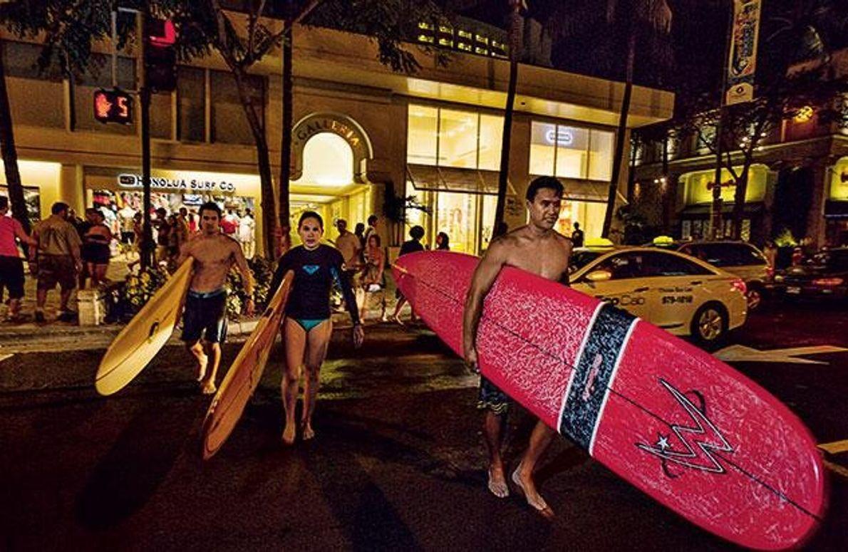 Surfer im Revier