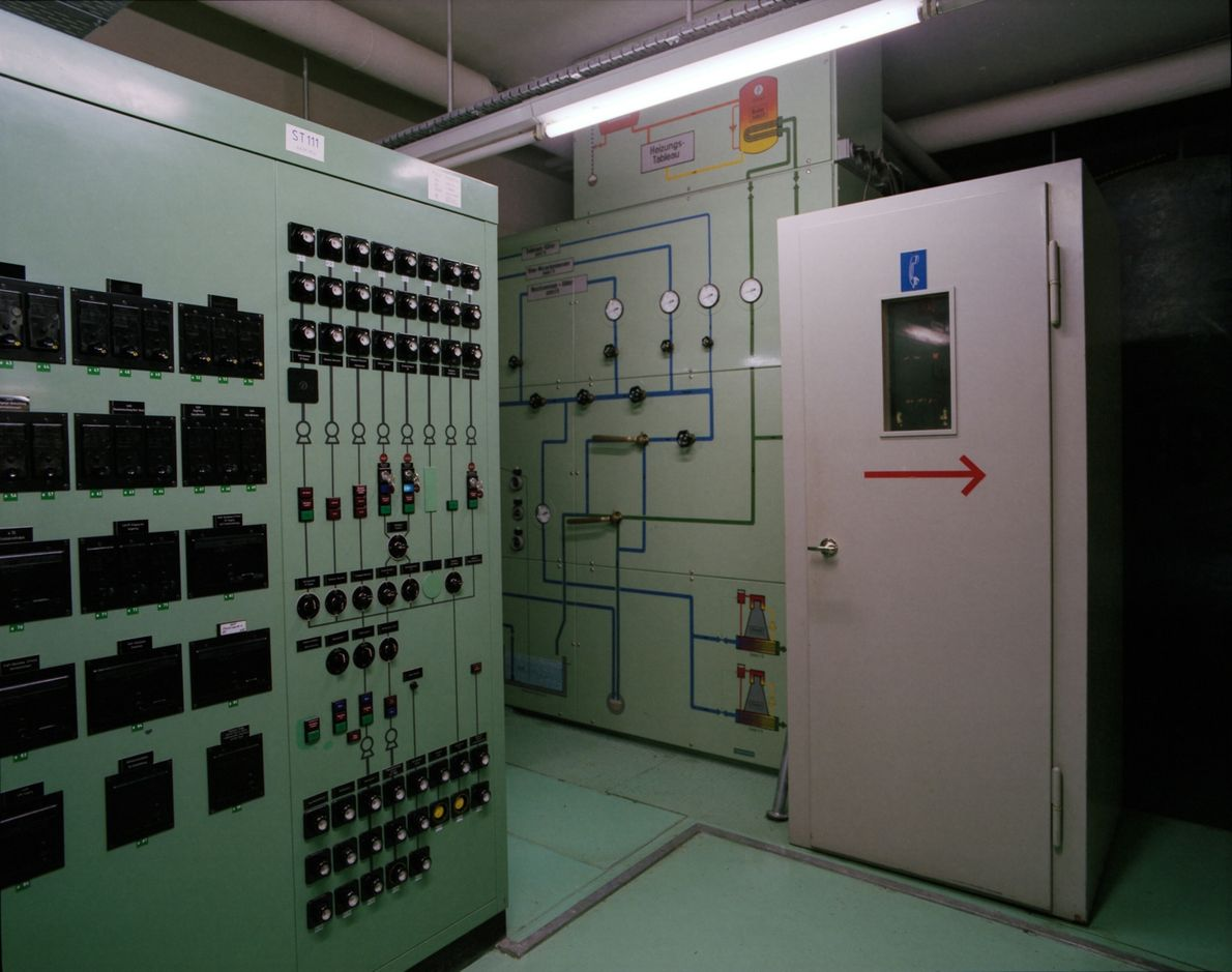 Kontrollzentrum, Reduit-Flugplatz St. Stephan