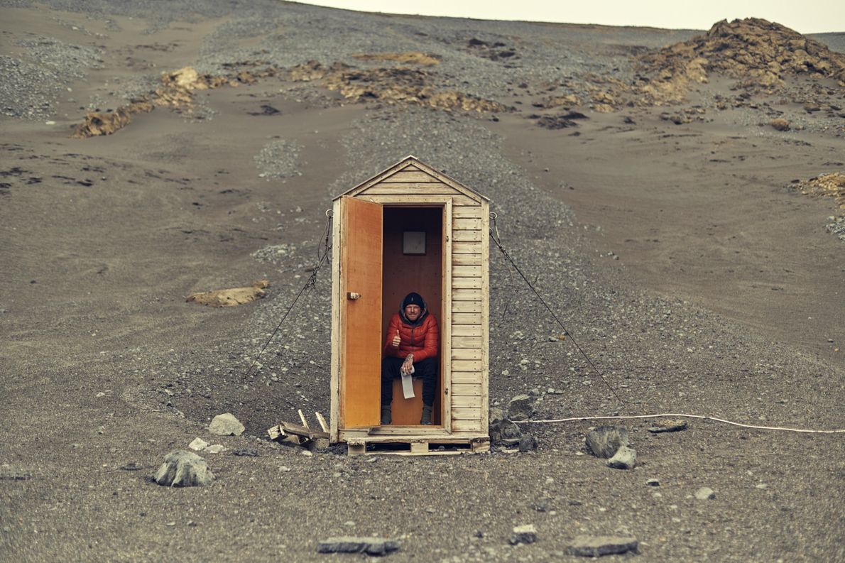Tag 7: Kistufell Rescue Shelter. Nach Tagen mal wieder eine Toilette vorzufinden, ist fantastisch.
