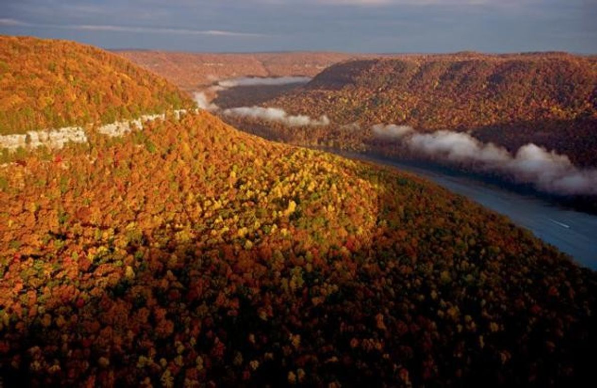 Der Tennessee fließt durch den Ostrand des Cumberland-Plateaus