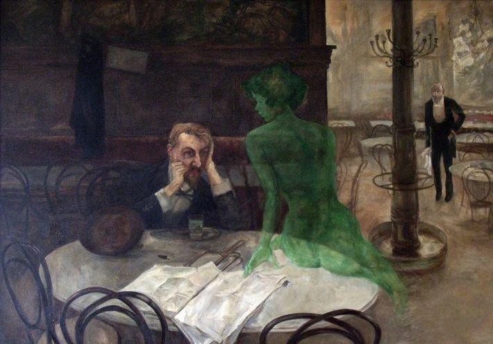 """""""Der Absinthtrinker"""" (1901) von Viktor Oliva. Um die Jahrhundertwende war Absinth bei Künstlern sehr beliebt und ..."""