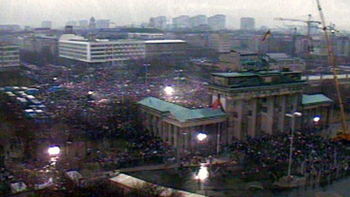 Der Fall der Berliner Mauer.