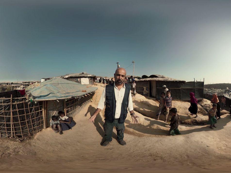 360° Video: Flüchtlingslager Bangladesch
