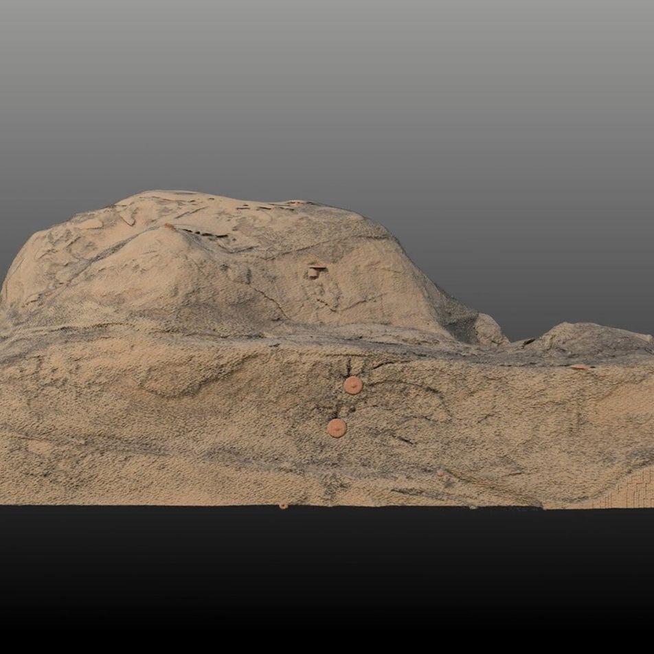 Römische Rüstung im 3D-Scanner
