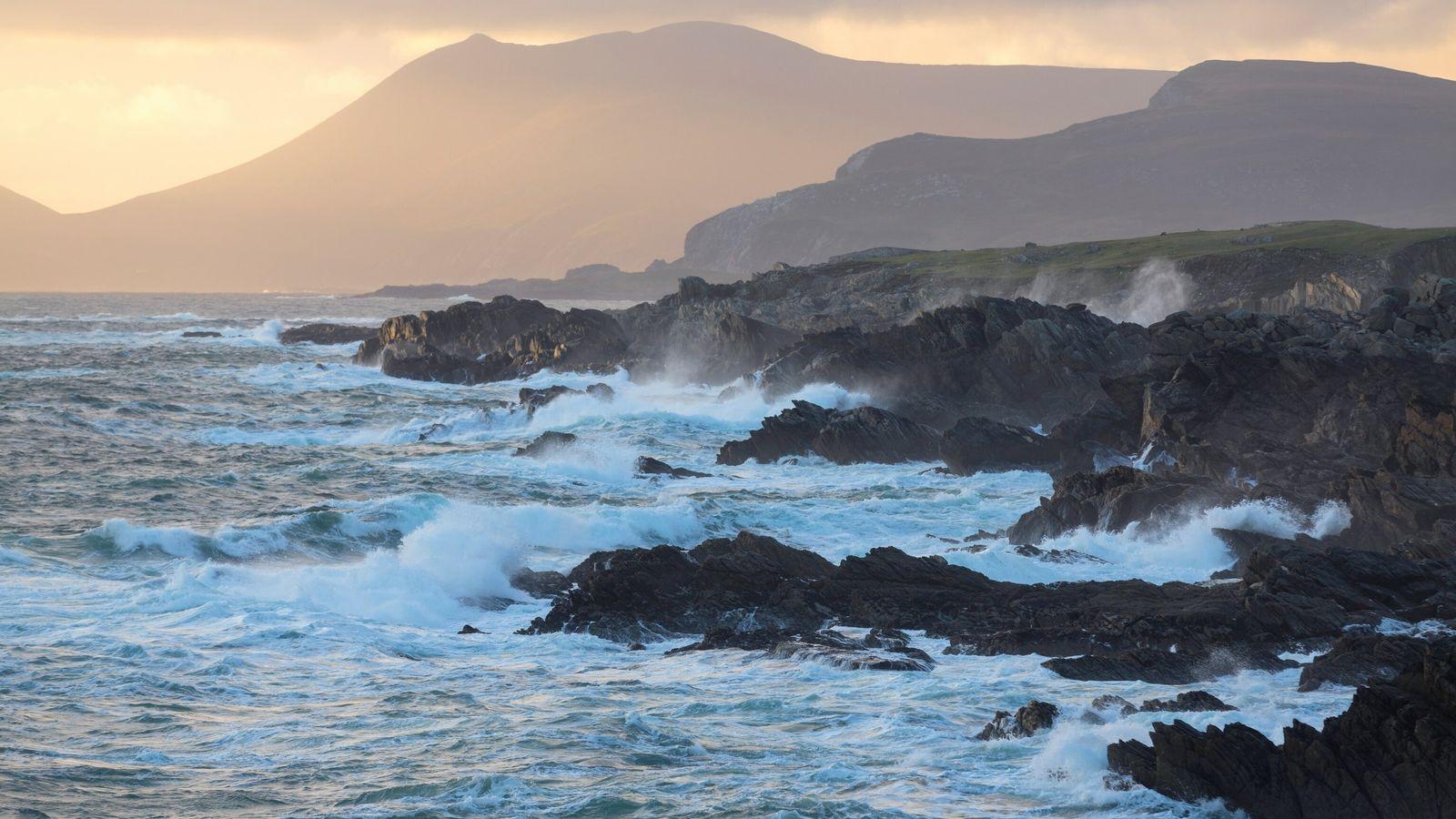 Stürmische See vor Irlands Küste