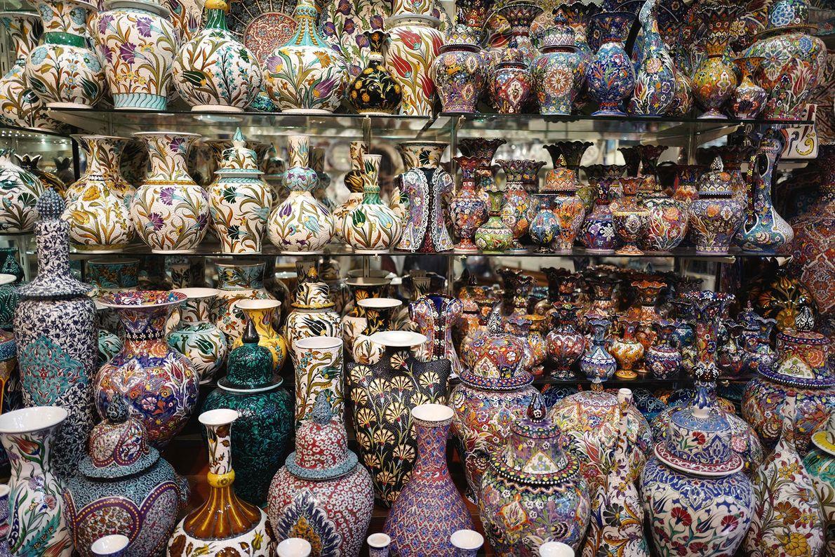 Auf Istanbuls Großen Basar gehört das Feilschen zu jedem Kauf dazu.