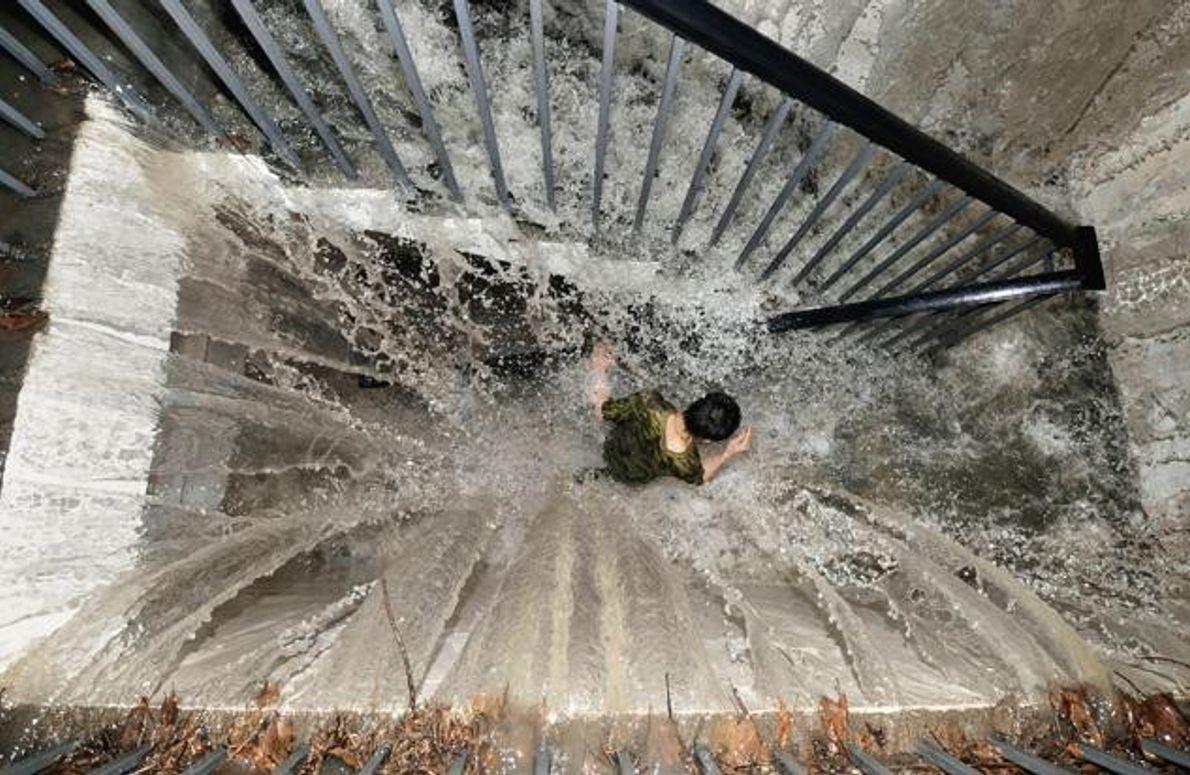 Überschwemmung in Sichuan, China