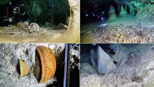 Maya-Artefakte und Riesenfaultiere: Neue Funde aus weltweit größter Unterwasserhöhle