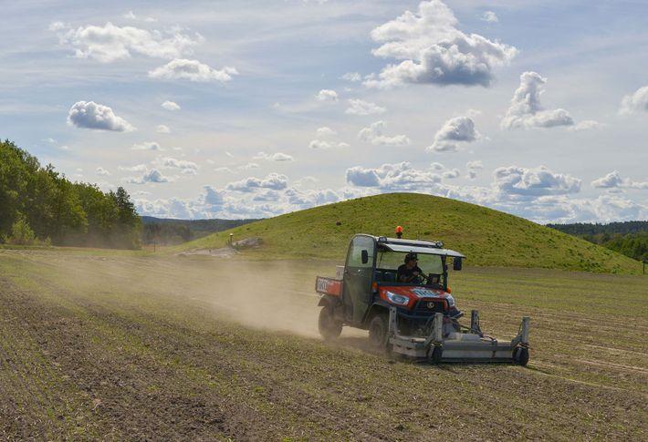 Mit Hilfe von Bodenradargeräten, die an ein Geländefahrzeug montiert wurden, konnten Archäologen einen Blick unter norwegische ...