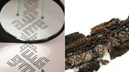 Begräbniskleidung von Wikingern mit arabischen Schriftzeichen entdeckt
