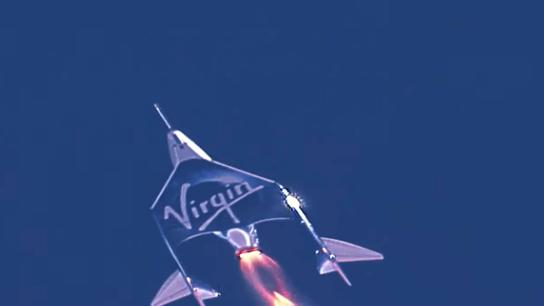 """Am 11. Juli 2021 startete das Virgin Galactics Raumfahrzeug """"V.S.S. Unity"""" seinen Testflug Richtung Weltall."""
