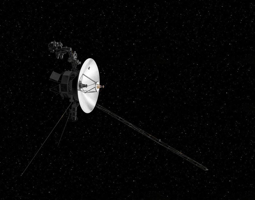 Illustration einer Voyager-Sonde