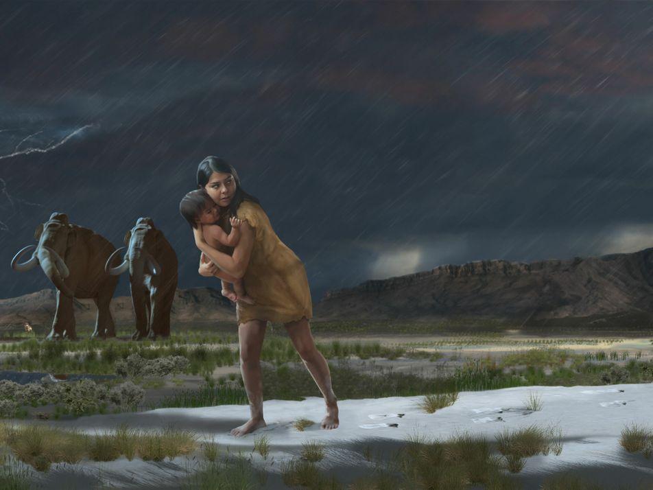 Fußspuren offenbaren Details einer 10.000 Jahre alten Reise