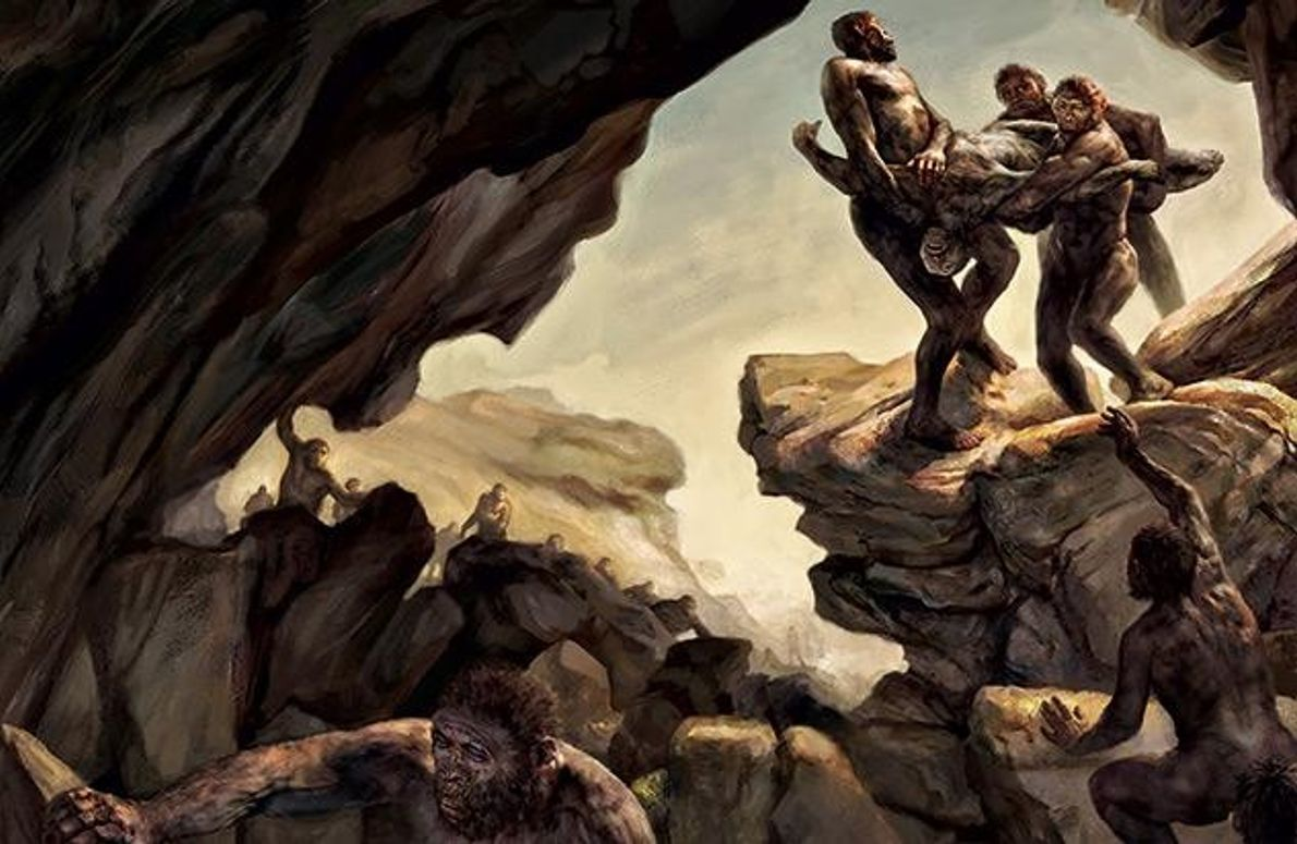 Wie sind die Knochen der mutmaßlichen Urmenschen in die unzugängliche Höhle gekommen?