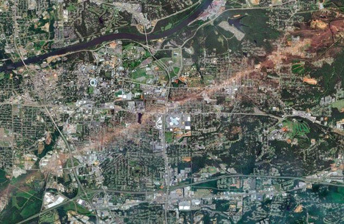Wirbelsturm in Alabama, USA
