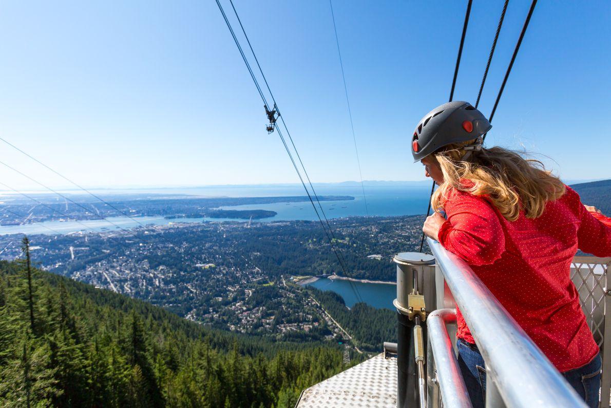 Die atemberaubende Aussicht vom Grouse Mountain Skyride.