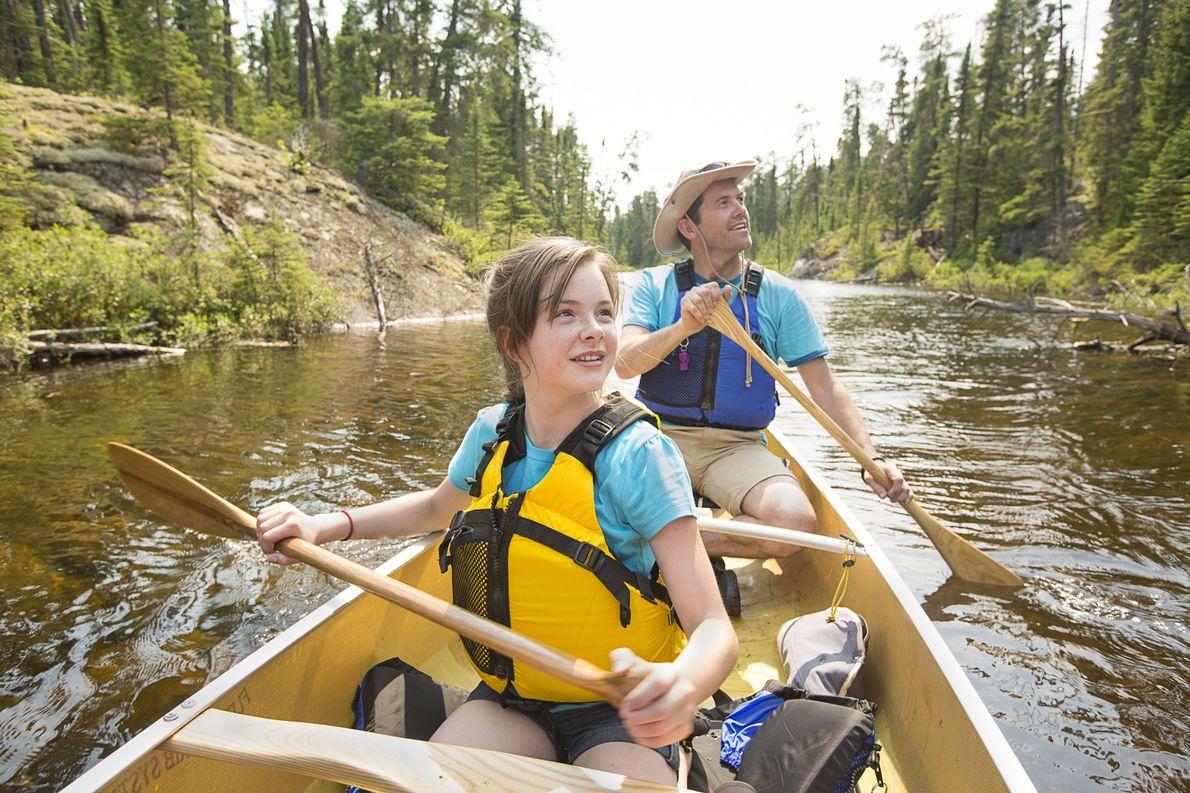 Woodland Caribou Provincial Park warten Kanuabenteuer für die ganze Familie.