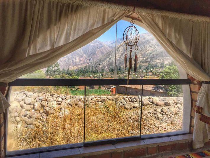 Im Erholungszentrum Pachamama Wasi, einem Familienbetrieb, hat man einen ausgezeichneten Ausblick auf das heilige Urubamba-Tal.