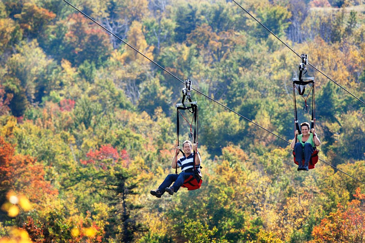 Wildcat Mountain ZipRider, Jackson, New Hampshire